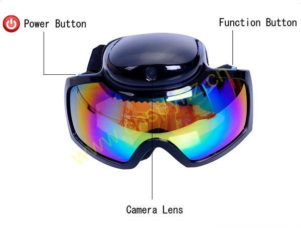 Lyžařské brýle s kamerou - Googles HD 720P s polarizačními fóli