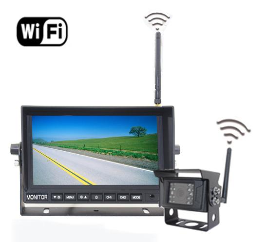 "Parkovací kamery do auta Set - Wifi 7 ""LED monitor + 1x WiFi kamera"
