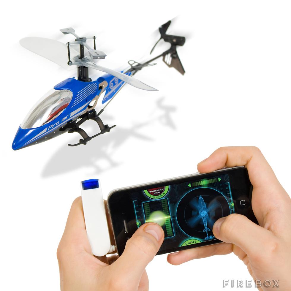 RC vrtulník řízený přes mobil