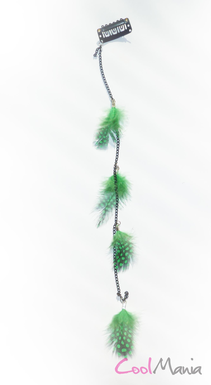 Pírka do vlasů - Světlo Zelené